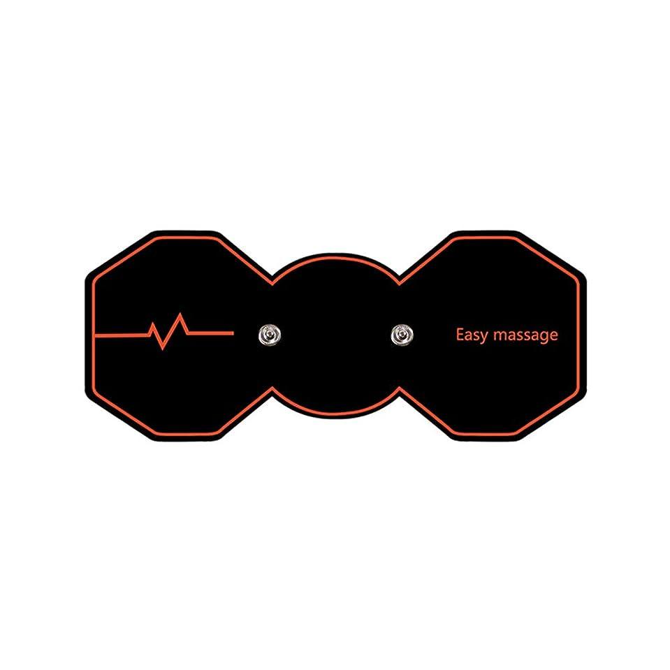 満足閉じる魔術師SUPVOX 電気パルスリラックスマッサージパッド電気痩身パッドボディ痩身筋肉マッサージャー(ブラック)