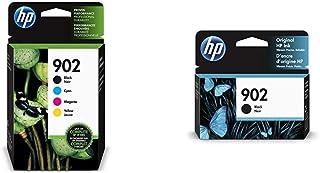 HP 902 Black, Cyan, Magenta & Yellow Ink Cartridges, 4 Cartridges (T6L98AN, T6L86AN, T6L90AN, T6L94AN) & 902 Black Ink Car...