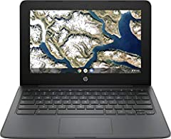 HP Google Chrome OS Chromebook is a computer for the way the modern world works, with thousands of apps, built-in virus protection and cloud backups. It is secure, fast, up-to-date, versatile and simple. Intel Celeron processor N3350 Enjoy a computer...