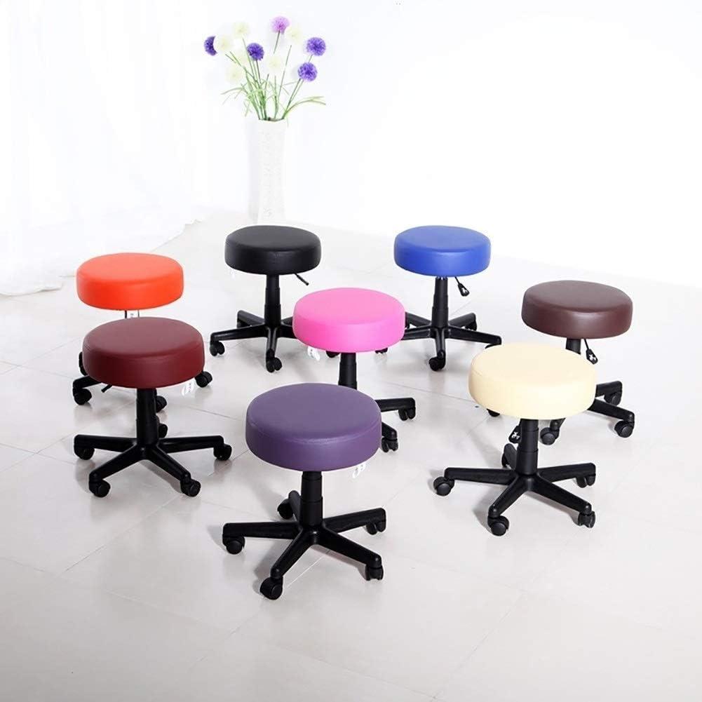 Chaise pivotante, Télésiège, Chaise Beauté, Tabouret Maquillage arrière, travail Poulie Chaise facile à nettoyer, facile à installer (Color : Blue) Blue