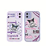 2 Pcs Kuromi Cartoon Phone Cases, iPhone Se Case (2020),iPhone 12Mini,Silicone Case Gel Rubber Full Body Protection Shockproof Cover,Suitable for iPhone X/xs,xr,iPhone 11,11 Pro,iPhone 12,12Pro Max