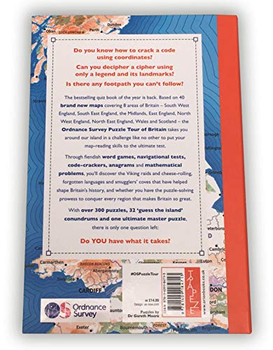 The Ordnance Survey Puzzle Tour of Britain: Take a Puzzle Journey Around Britain From Your Own Home (Puzzle Books)