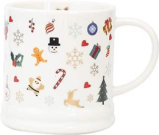 Christmas Gifts Coffee Mug Ceramic Tea Cup Perfect Gift For Family and Friend14oz Santa Holiday Dining Mug