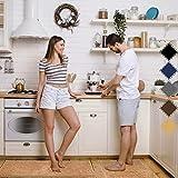 "Pretigo Kitchen Rug Sets - Rugs for Kitchen Floor Washable,Non-Slip Soft Kitchen Mat Set,Chenille Microfiber Material, Super Absorbent 17""×48"" + 17""×24"" (Beige)"