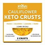 Kbosh Keto Crusts - The #1 Cauliflower Keto Pizza Crust - Only 1 Carb & 40 Cals per serving - Delicious, Sugar-Free, Low Carb Crusts for Keto-Friendly Recipes - 2 EZ Store Packs - 4 Crusts