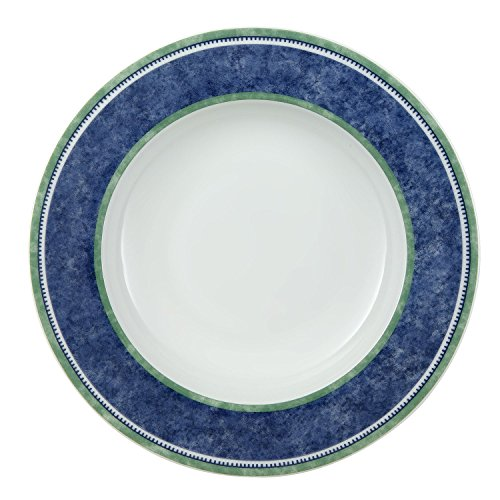 Villeroy & Boch Switch 3 Costa Suppenteller, 23 cm, Porzellan, Weiß/Blau/Grün