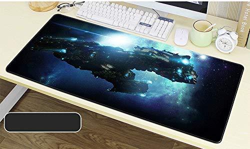 Zenghh Professionelle Gaming Mouse Pad Schwarz Designs, Star Craft II: Legacy of the Void Riesen Erweiterte Größe Schreibtisch Matte, Anti-Rutsch-Gummiunterseite mit abgesteppten Kanten for Computer,