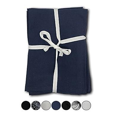 MoLi Products 100% Egyptian Cotton Cloth Dinner Napkins 12 Pack Lunch Linen – Decorative Reusable Fabric Table Linens Servilletas de Tela Restaurant Wedding Luncheon Napkin (Navy Blue)