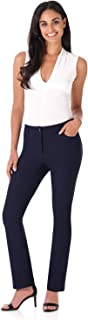Rekucci Women's Iconic Stretch 5 Pocket Straight Leg Pant w/Zipper Closure