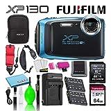 Fujifilm FinePix XP130 Waterproof Digital Camera (Sky Blue) Advanced...