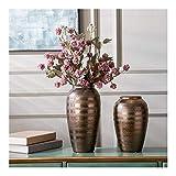 Qiutianchen Store Pottery - Macetas de cerámica para encimera, jarrón de cerámica, para sala de estar, macetas de cerámica (tamaño: mediano)