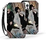 Étui portefeuille pour iPhone 12 Pro - Motif One Punch Man Fubuki Tatsumaki - Fonction béquille -...