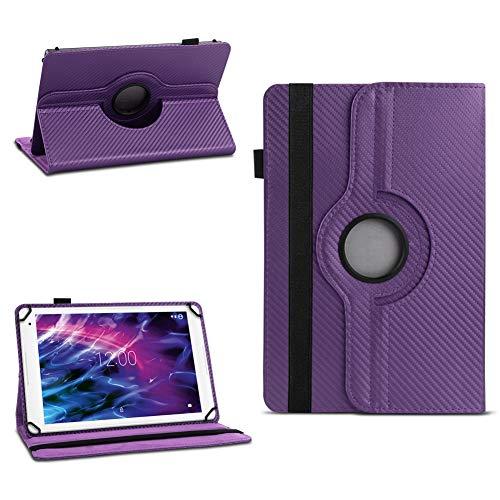 NAUC Hülle für Medion Lifetab P8502 Tablet Tasche Schutzhülle Cover Hülle 360° Drehbar, Farben:Lila