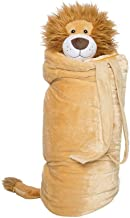 BuddyBagz Lion Brave Buddy, Super Fun & Unique Sleeping Bag/Overnight & Travel Kit for Kids, All in 1 Traveling-Made-Easy Solution Complete with Stuffed Animal, Pillow, Sleeping Bag & Overnight Bag