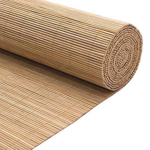 MRZHW Tejidas a Mano Lujo Persianas de bambú Protector Solar Impermeable Persianas Enrollables De Bambú Persianas Enrollables de Partición Fácil de Montar con cordón-100 * 160cm/39 * 63inch UN