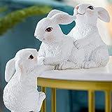 WULOVEMI Statues en Plein air Creative Mignon de Lapin Animal Ornements de...