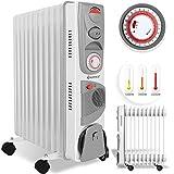 KESSER® Ölradiator - Elektrische Heizung mit 11 Rippen und Lüfter