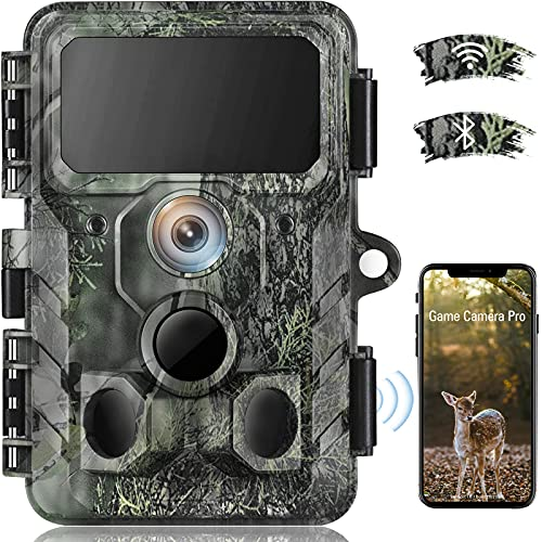 4K Native WiFi Trail Camera - 30MP Wildlife Camera with Night Vision...