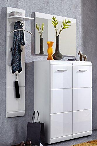 Germania 8786-84 3-tlg. Garderoben-Set GW-Adana in Weiß, 140 x 197 x 36 cm (BxHxT)