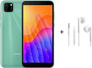"Huawei Y5P Smartphone,Dual SIM,32 GB ROM, 2 GB RAM,8MP,3020 mAh,5.45"" Display - Mint Green + AM115 White"