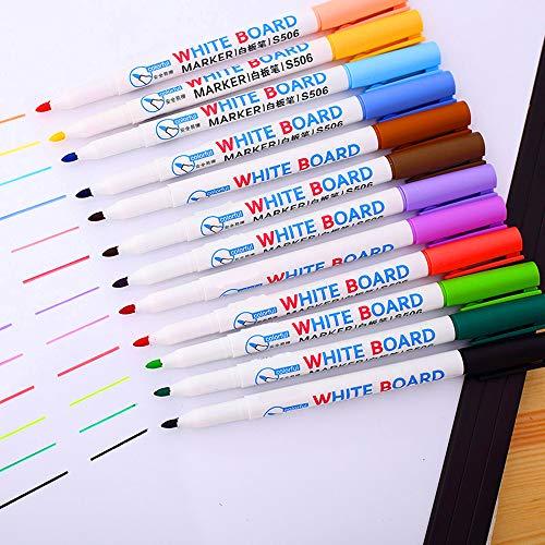 CIKALIN ホワイトボード ペン 多色 ホワイトボードマーカー カラフル お絵かき 12色