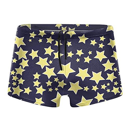 XCNGG Starry Sky Stars Design Calzoncillos Tipo bóxer de Secado rápido para Hombres Traje de baño Shorts Trunks Traje de baño-L
