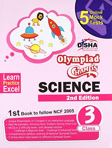 Olympiad Champs Science Class 3 with 5 Online Mock Tests