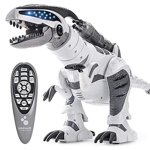 Ycco Control remoto inteligente Gesto interactivo Robot Niños Juguete Tyrannosaurus Rex Spiderman Venom Doll Figuras de acción Desmontable Anime Modelo de regalo (Color : White)
