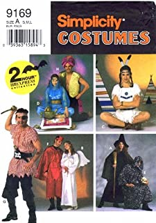 Simplicity 9169 Sewing Pattern Genie Indian Devil Angel Pirate Witch Sorcerer Bust / Chest 34 - 44