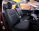 Easeadd Fundas De Asiento De Coche A Medida para Compatible con Toyota RAV4 Hybride 2019-2021 Collection,Black,Design (Business)-Cuero(Negro)