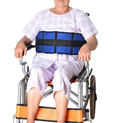 WuLien Sillas de Ruedas Correas Restricciones arnés cinturón Seguridad para Silla de Ruedas o sillón geriátrico para Personas Mayores discapacidad