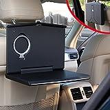 Car Laptop Mount, Foldable Vehicle Backseat Ipad Stand Holder for Kids Toy Bottles Storage and Mobile Office Dining Drink Eating Desk On Truck Van SUV