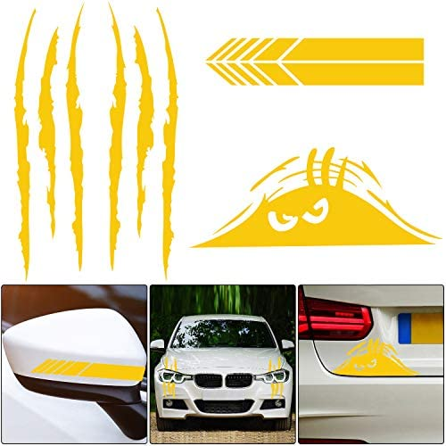 5 Pieces Car Stickers Decorations Claw Marks Decal Reflective Sticker Waterproof Monster Scary product image
