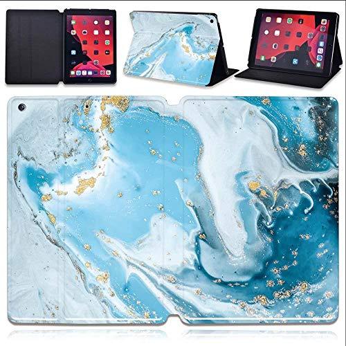 lingtai Leather Stand Tablet Cover Case For Ipad Mini 1/2/3/4/5/Ipad Pro 9.7/10.5/11 Inch/Ipad Air 1/2/3/Ipad 234/Ipad 5/6/7/8th Gen (Color : B wav, Size : IPad 2019 7th 10.2)