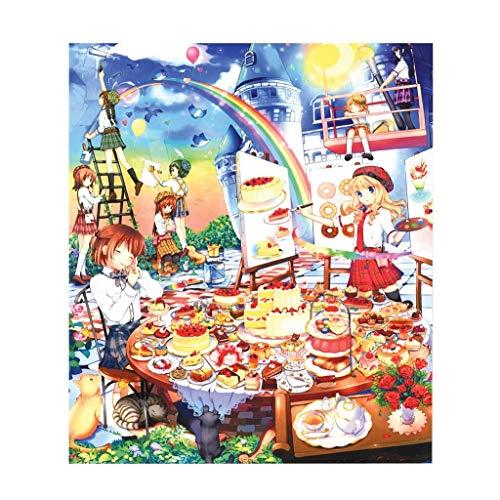 LRZS Solitär-Puzzle Holzpuzzle 1000 Stück Mädchen Kinder Klassik Puzzlen des kreativen Geschenk-Schwestern Toy Tangram 500 Stück Gourmet-Party (Size : 500 pcs)