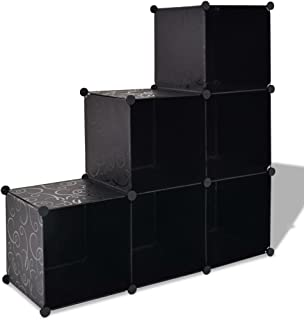 vidaXL Storage Cube Organiser with Compartments Black Rack Display Unit