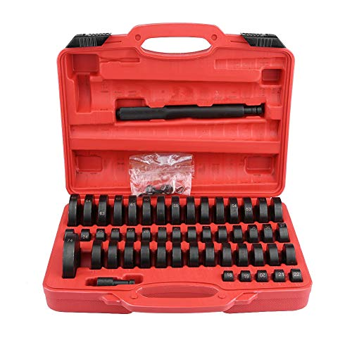Suuonee Bush Bearing Set, 51 Stück Bush Bearer Driver Set Remover Installer Removal Built Hand Tool Kit für die Autoreparatur