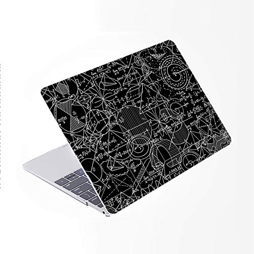 SDH Only Compatible Older MacBook Pro 13 Inch Case Model A1278 CD-ROM Early 2012-2008 Release, Plastic Pattern Hard Shell & Laptop Sleeve Bag & Gradient Keyboard Cover, Blackboard Book 13