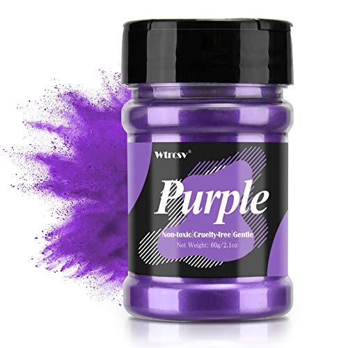 Epoxidharz Farbe metallic, Seifenfarbe - 60g lila Pulver - für die Seifenherstellung, Mica Powder,...