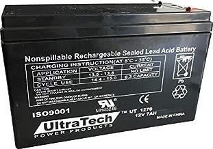 UltraTech UT1270 12V 7 Ah Sealed Lead Acid Alarm Battery UT-1270