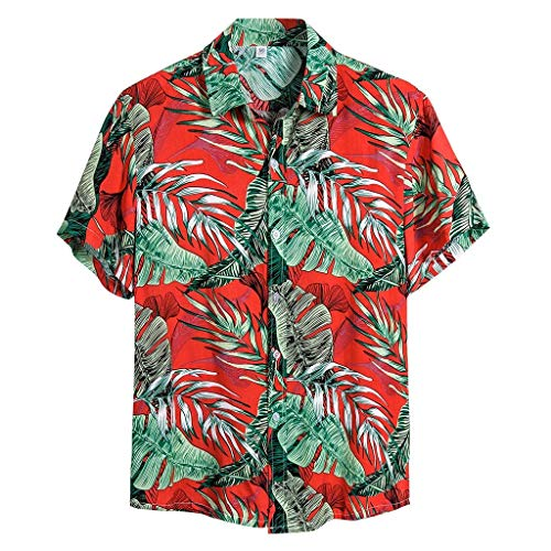 For Sale! Hawaiian Shirts for Men Party Casual Camp Button Down Shirt Short Sleeve Vacation Beach We...