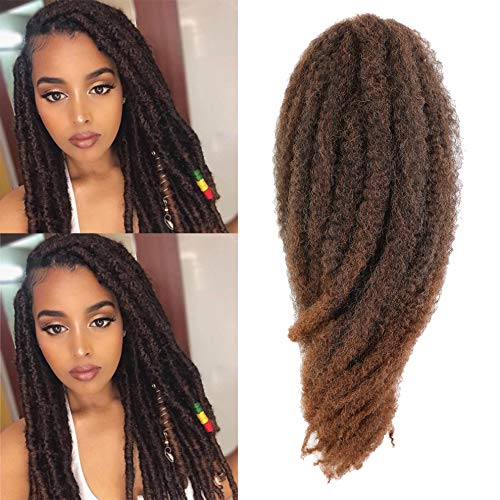 Ago Cuban Twist Hair 16inch Marley Twists Hair 6packs Senegalese Twist Corchet Hair Braids Colorful Havana Twists Hair Afro Kinky Marley Crochet Braiding Hair Extension (16inch, 1B-30)