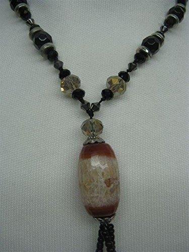Natural mente – Agate, Onyx, collier, env. 65 cm, pierre naturelle, collier, chaîne, agate, n ° 1051