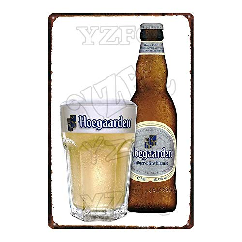 ADFGUYI Botella de Cerveza Letrero de Metal Vintage Cartel de Chapa Bar Café Garaje Cartel de Pared Art Deco Placa de Hierro 20x30cm 5