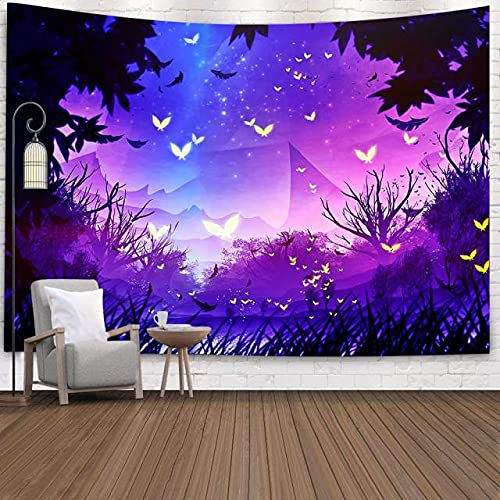 rzskdjgv Tapiz Yin Yang Boho Mandala Espacio Cielo Estrellado Arte Tapices para Colgar En La Pared para Sala De Estar Hogar Dormitorio Decoración 240X260Cm