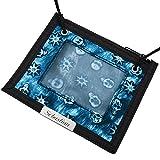 Cadenis Kinder-Brusttasche Brustbeutel mit persönlicher Laser-Gravur blau