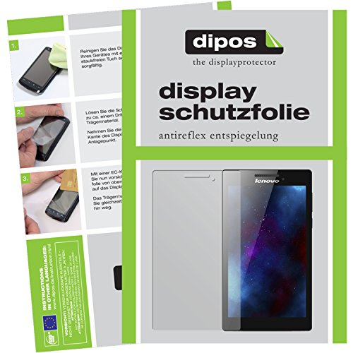 dipos I 2X Schutzfolie matt kompatibel mit Lenovo Tab 2 A7-10 Folie Bildschirmschutzfolie