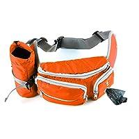 Sacs à friandises pour chien Akemiao, d'entraînement, Sacoche d'entrainement en ceinture, Lot avec support de bouteille pour camping, escalade, voyage, cyclisme et promenade de chien