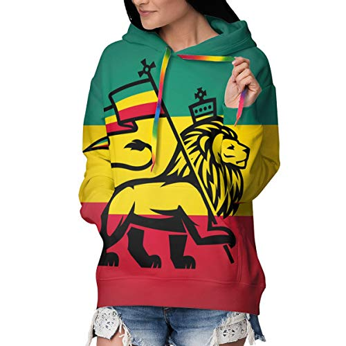 3D Druck Hoodie Damen Kapuzenpullover Judah Lion A Rastafari Flag King Jungle Reggae Langarm Pullover Fleece Coole Sweatshirt S-2XL