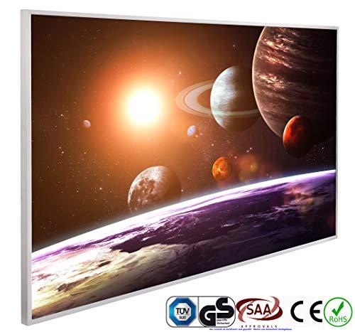 INFRAROT-HEIZUNG 600W-(1047)-Solar System-60x100 cm-Bildheizung Heizpaneel Elektroheizung Heizkörper Heizstrahler Heizplatte Strahlungsheizung Flach 5 Jahre Garantie Zertifiziert TÜV GS CE ROHS SAA